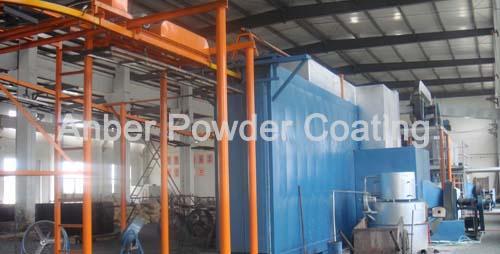 fence pvc coating line mesh fence powder coating line fluidized