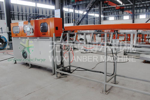 Wire straightening and cutting machine - anber wire mesh machine